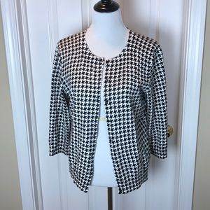 Talbots | Houndstooth Check Cardigan, L